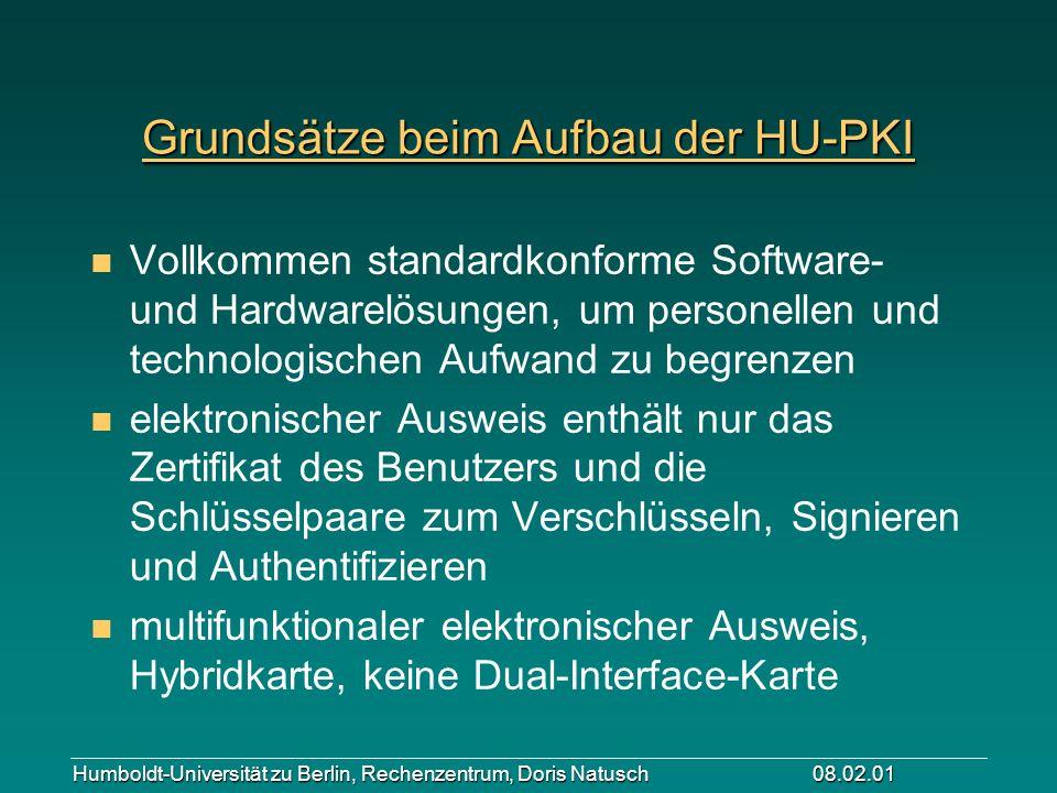 Grundsätze beim Aufbau der HU-PKI