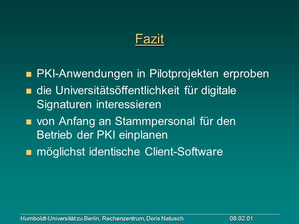 Fazit PKI-Anwendungen in Pilotprojekten erproben