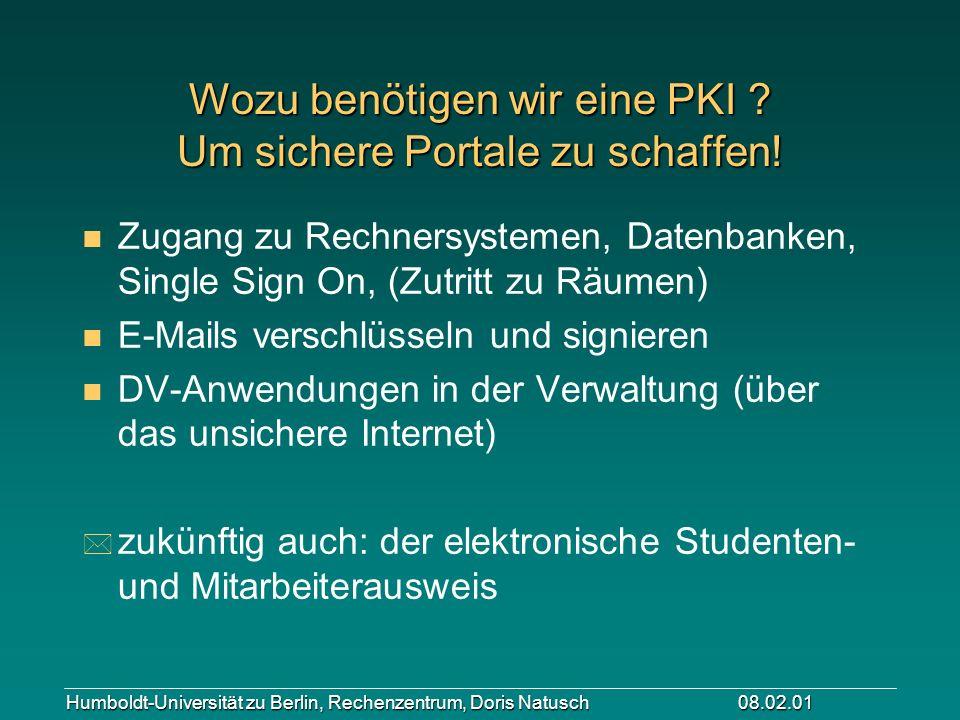Wozu benötigen wir eine PKI Um sichere Portale zu schaffen!