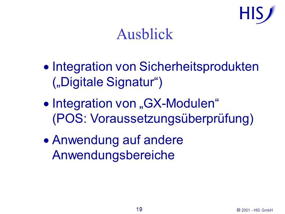 """Ausblick Integration von Sicherheitsprodukten (""""Digitale Signatur )"""