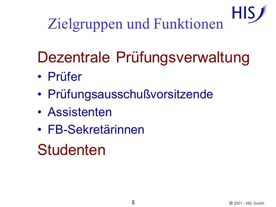 Zielgruppen und Funktionen