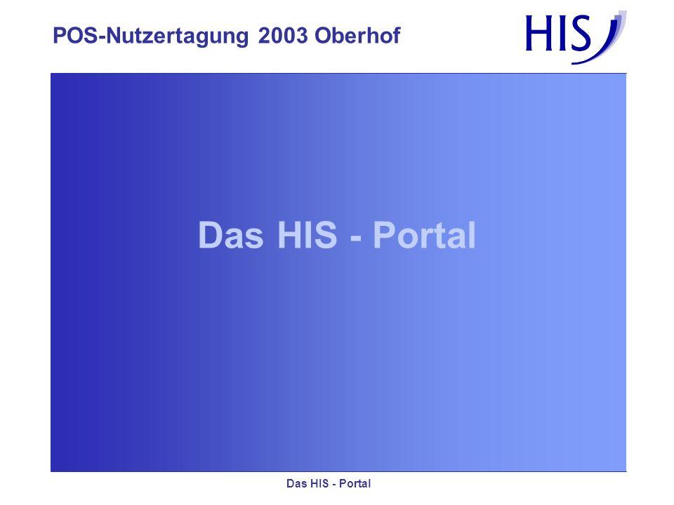 Das HIS - Portal