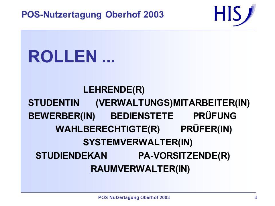 ROLLEN ... LEHRENDE(R) STUDENTIN (VERWALTUNGS)MITARBEITER(IN)