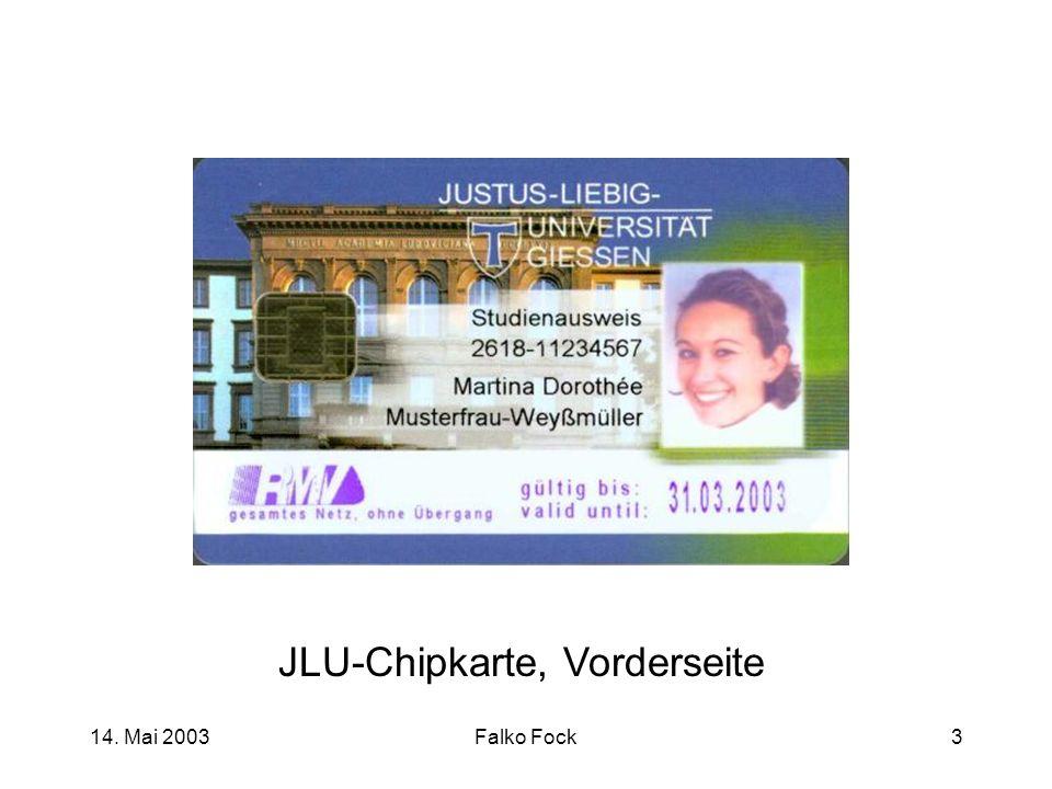 JLU-Chipkarte, Vorderseite