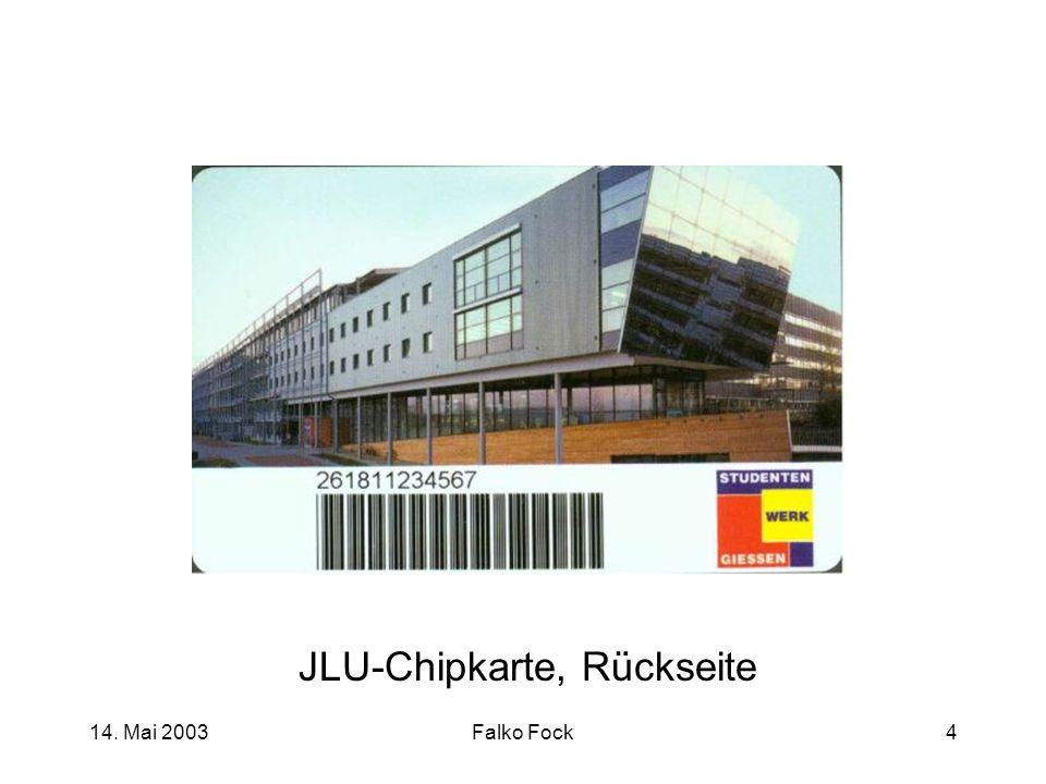 JLU-Chipkarte, Rückseite