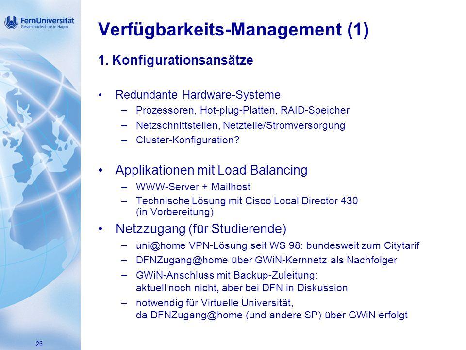 Verfügbarkeits-Management (1)