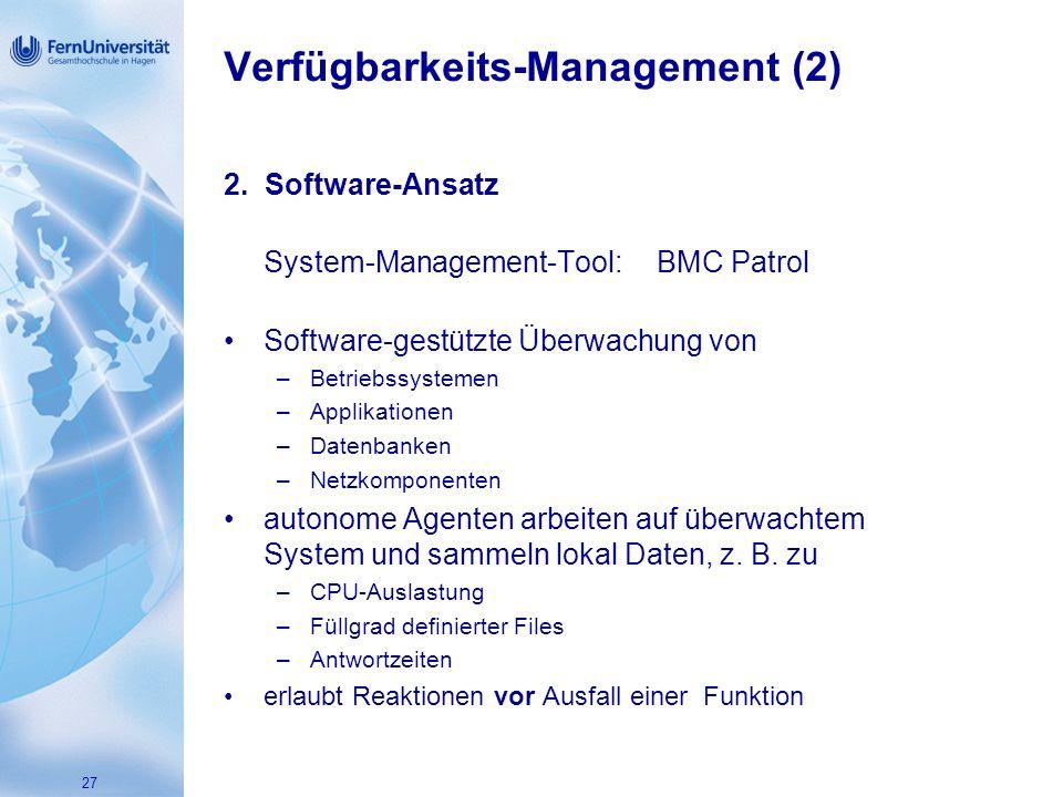 Verfügbarkeits-Management (2)