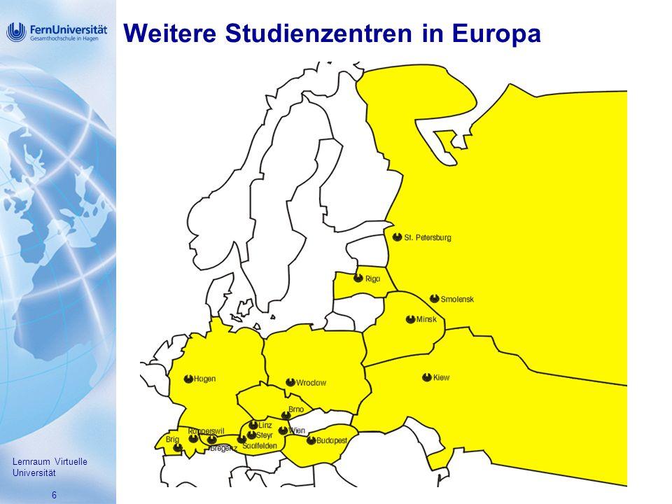 Weitere Studienzentren in Europa
