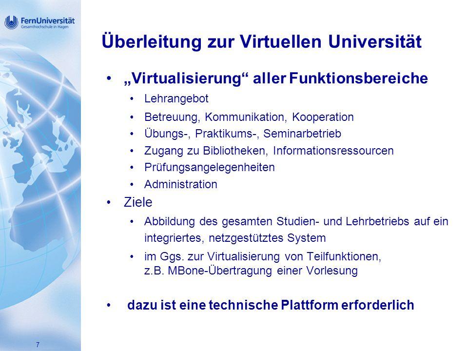 Überleitung zur Virtuellen Universität