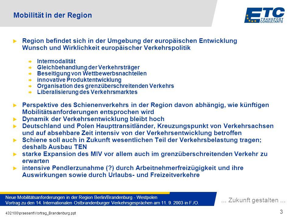 Mobilität in der Region