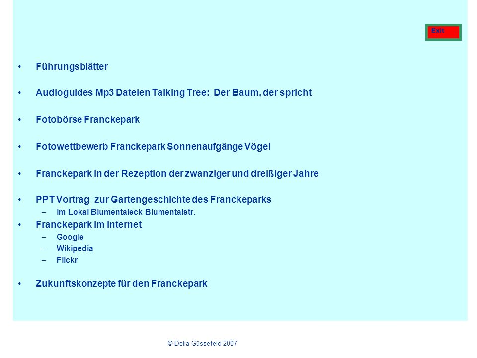 Audioguides Mp3 Dateien Talking Tree: Der Baum, der spricht