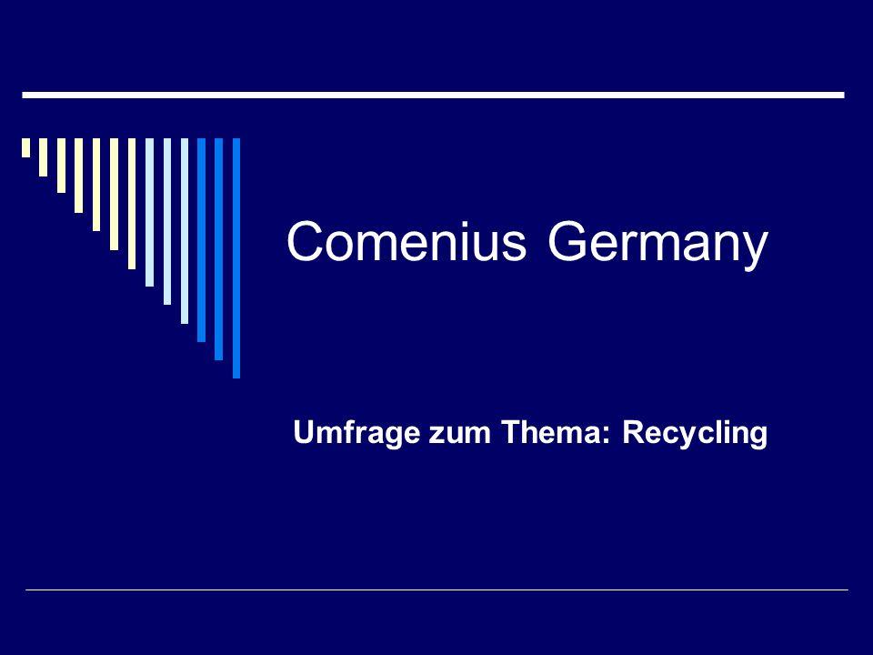 Umfrage zum Thema: Recycling
