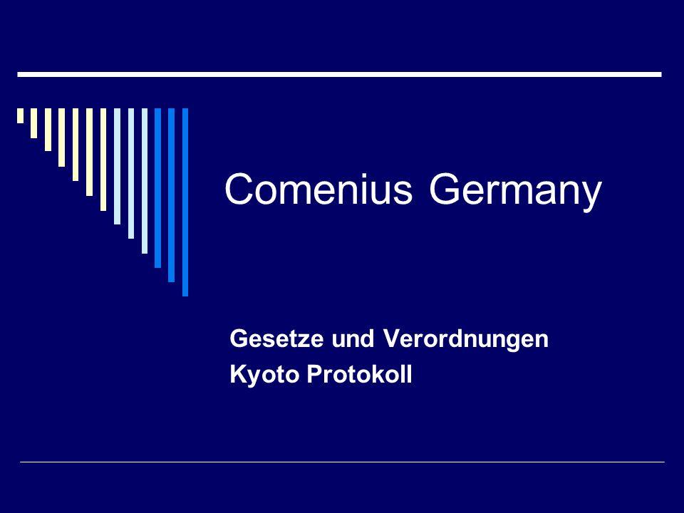 Gesetze und Verordnungen Kyoto Protokoll