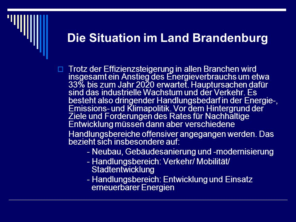Die Situation im Land Brandenburg
