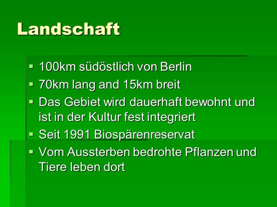 Landschaft 100km südöstlich von Berlin 70km lang and 15km breit