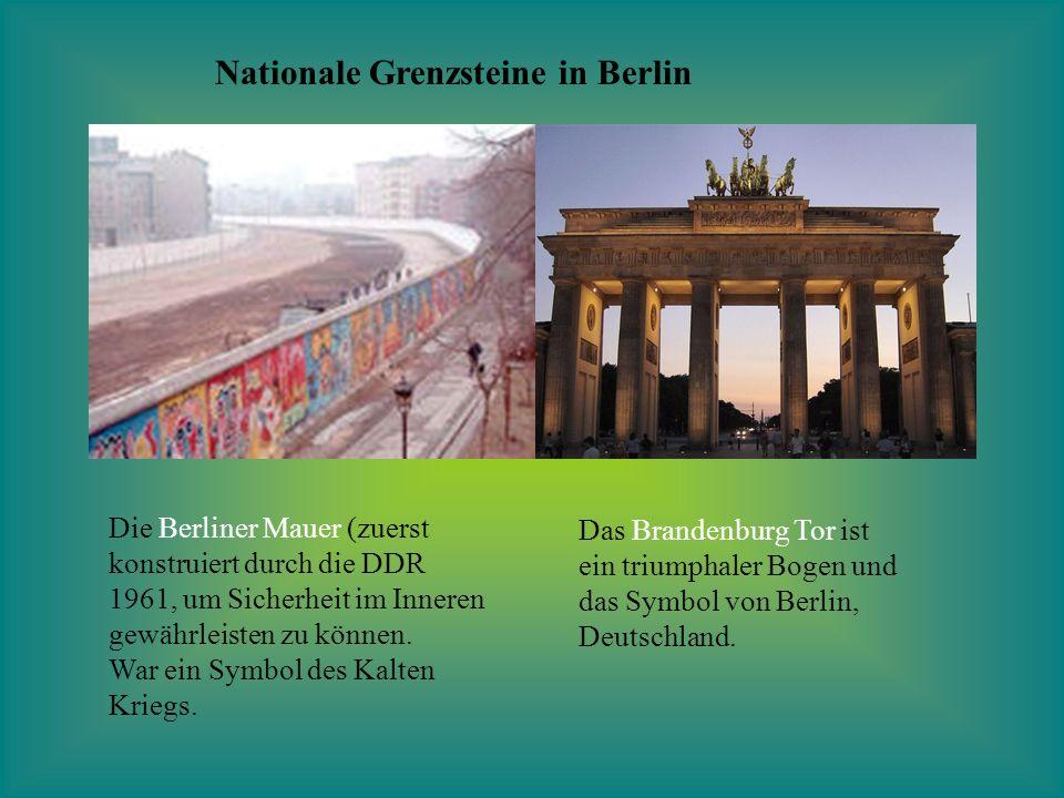 Nationale Grenzsteine in Berlin
