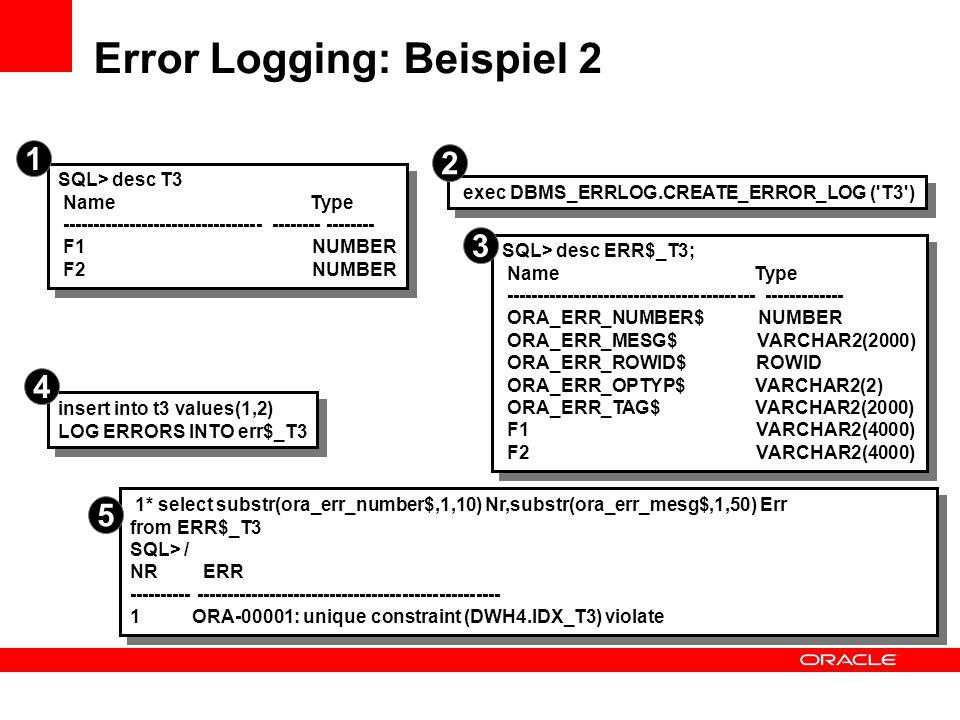 Error Logging: Beispiel 2