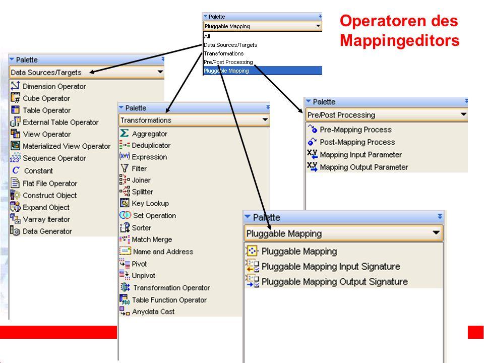 Operatoren des Mappingeditors