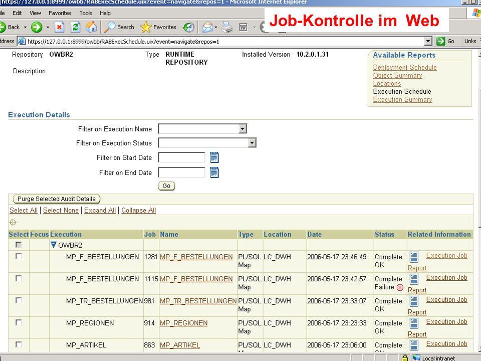 Job-Kontrolle im Web