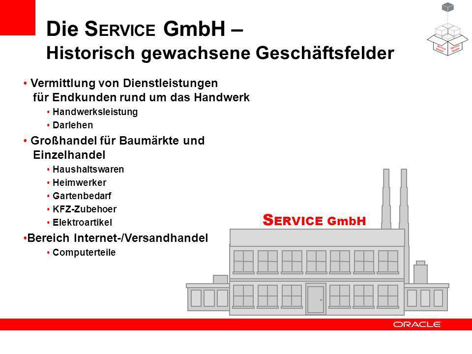 Die SERVICE GmbH – Historisch gewachsene Geschäftsfelder