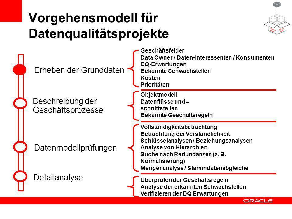 Vorgehensmodell für Datenqualitätsprojekte