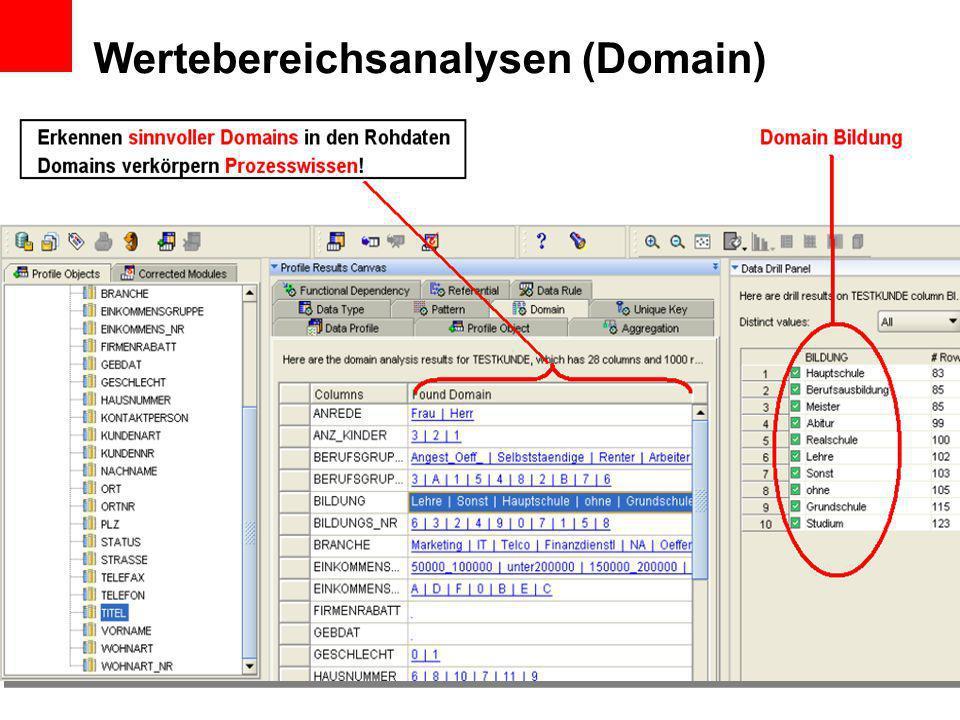 Wertebereichsanalysen (Domain)