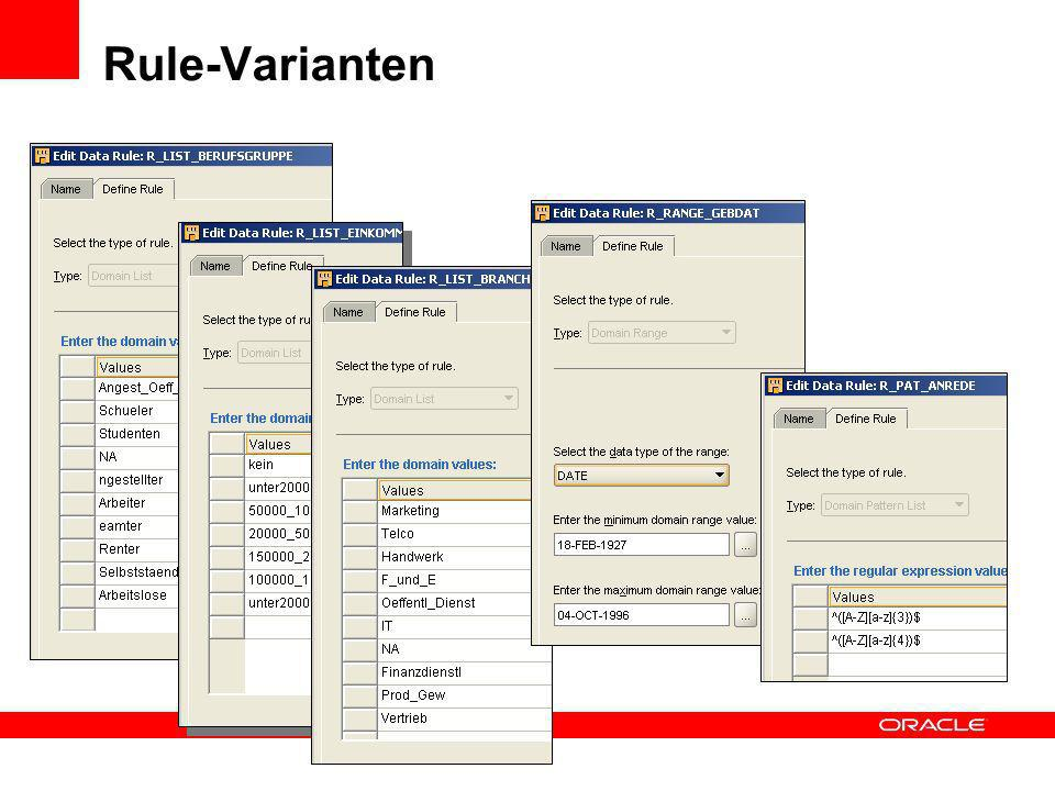 Rule-Varianten