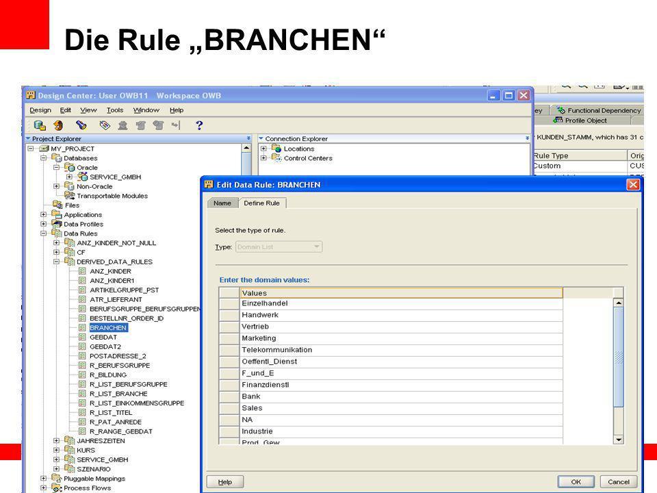 """Die Rule """"BRANCHEN"""