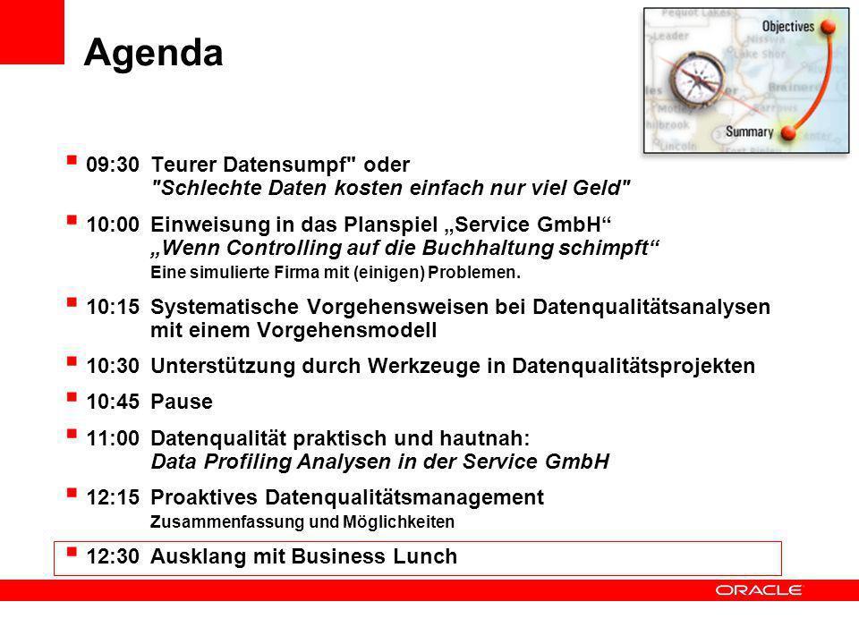 Agenda 09:30 Teurer Datensumpf oder Schlechte Daten kosten einfach nur viel Geld