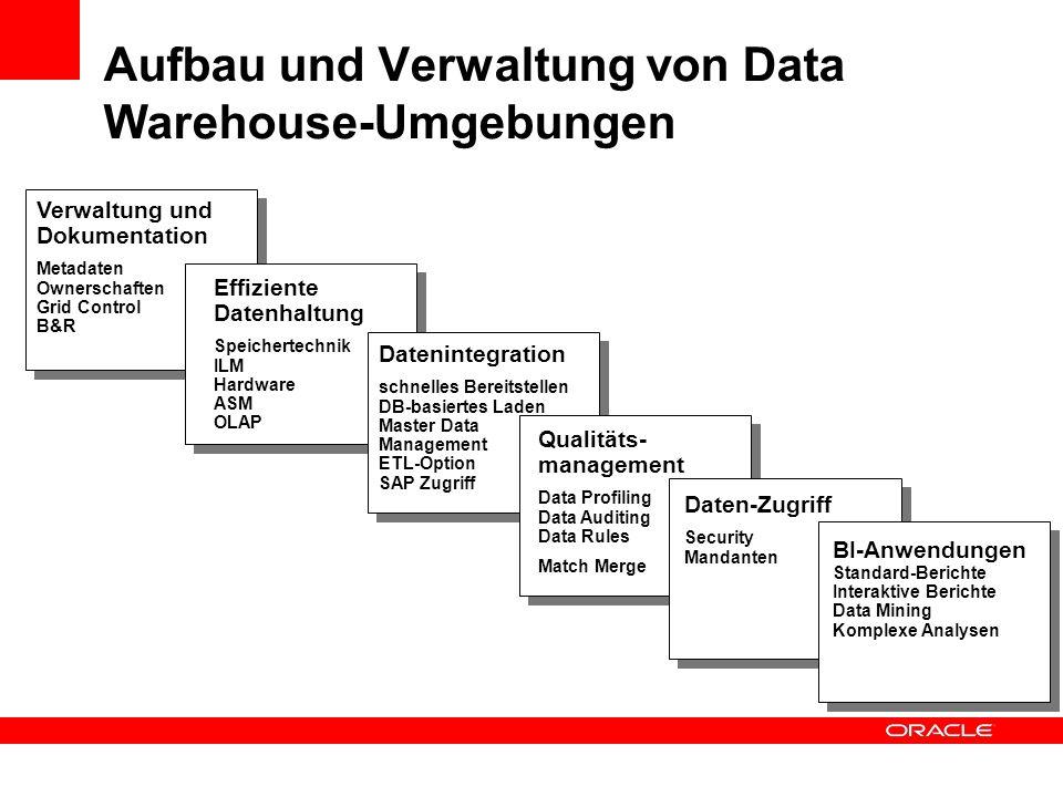 Aufbau und Verwaltung von Data Warehouse-Umgebungen
