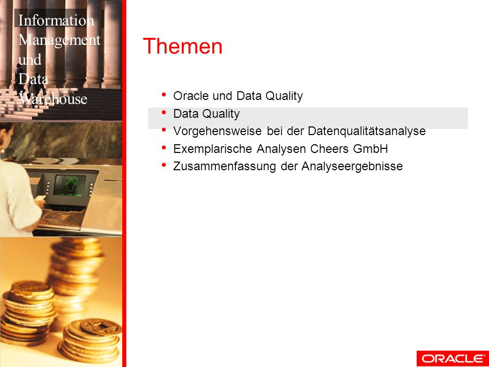 Themen Information Management und Data Warehouse