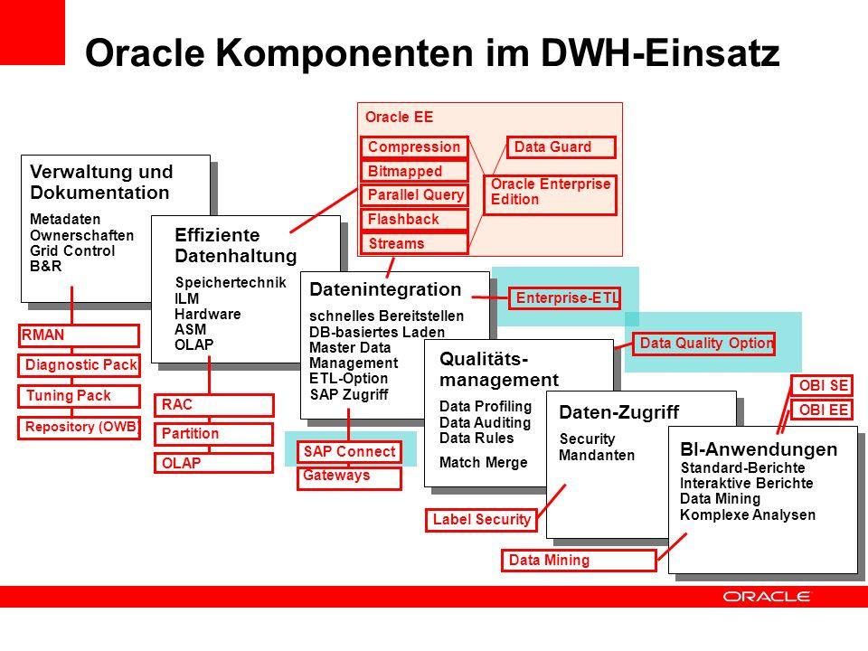 Oracle Komponenten im DWH-Einsatz