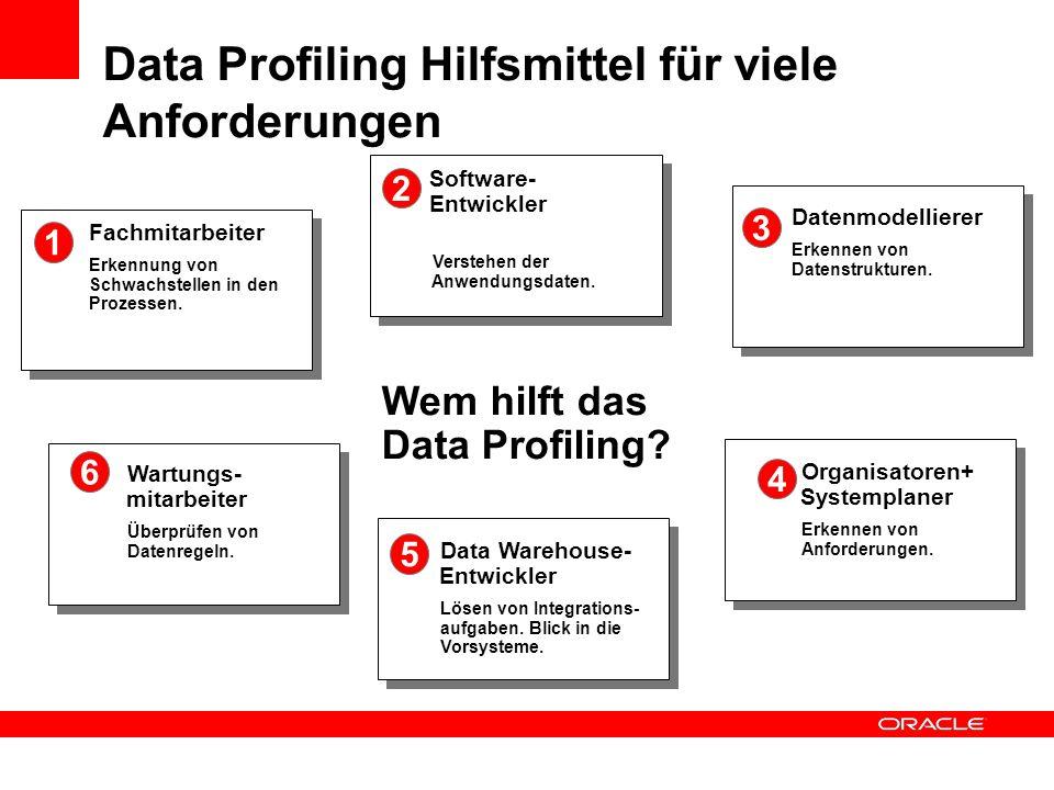 Data Profiling Hilfsmittel für viele Anforderungen