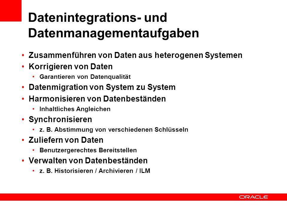 Datenintegrations- und Datenmanagementaufgaben