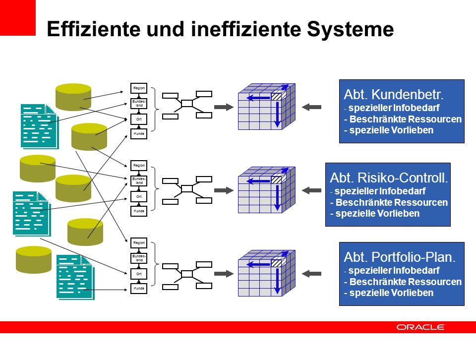 Effiziente und ineffiziente Systeme