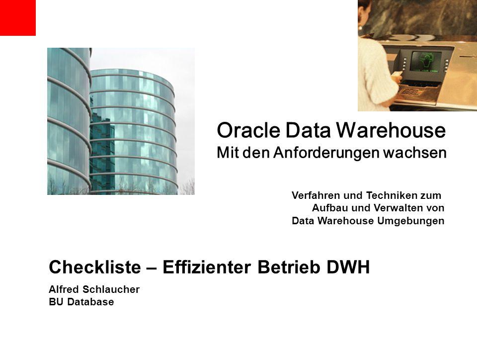 Checkliste – Effizienter Betrieb DWH