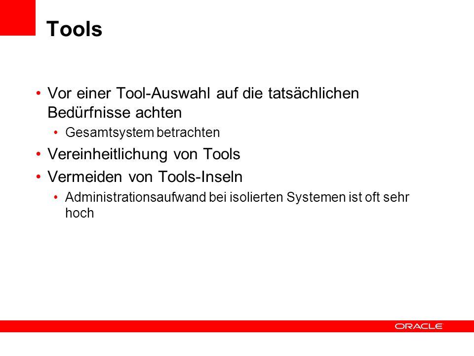 Tools Vor einer Tool-Auswahl auf die tatsächlichen Bedürfnisse achten