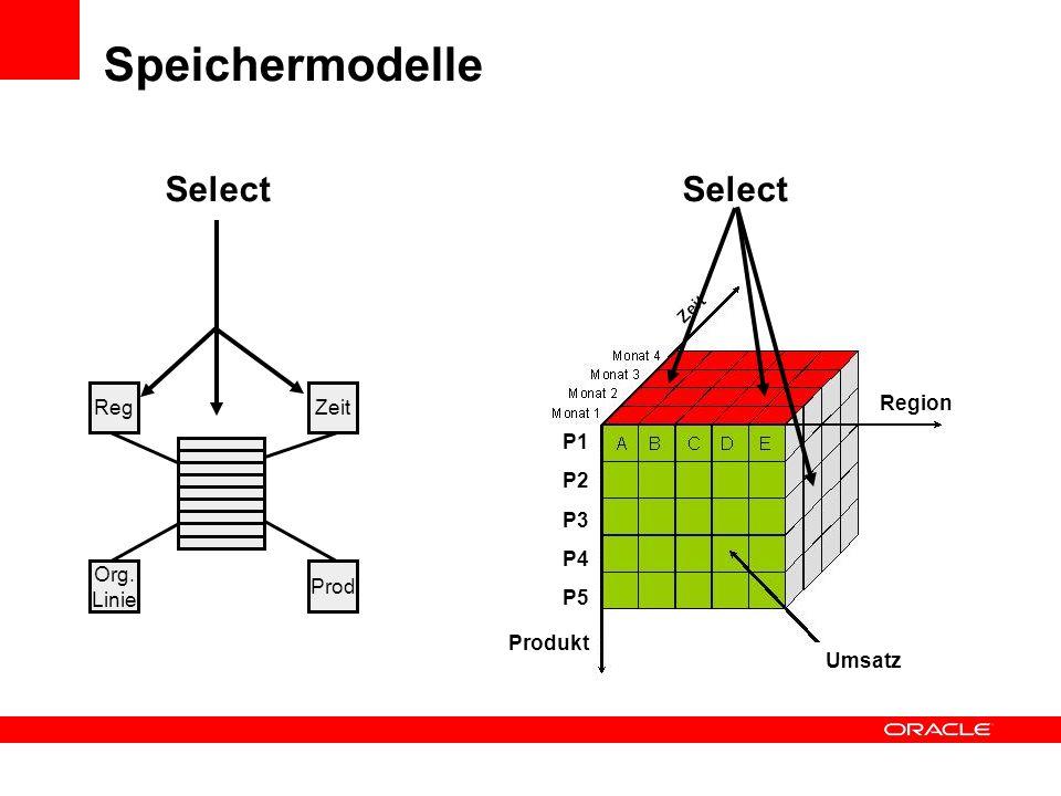 Speichermodelle Select Umsatz P1 P2 P3 P4 P5 Region Produkt Reg Zeit