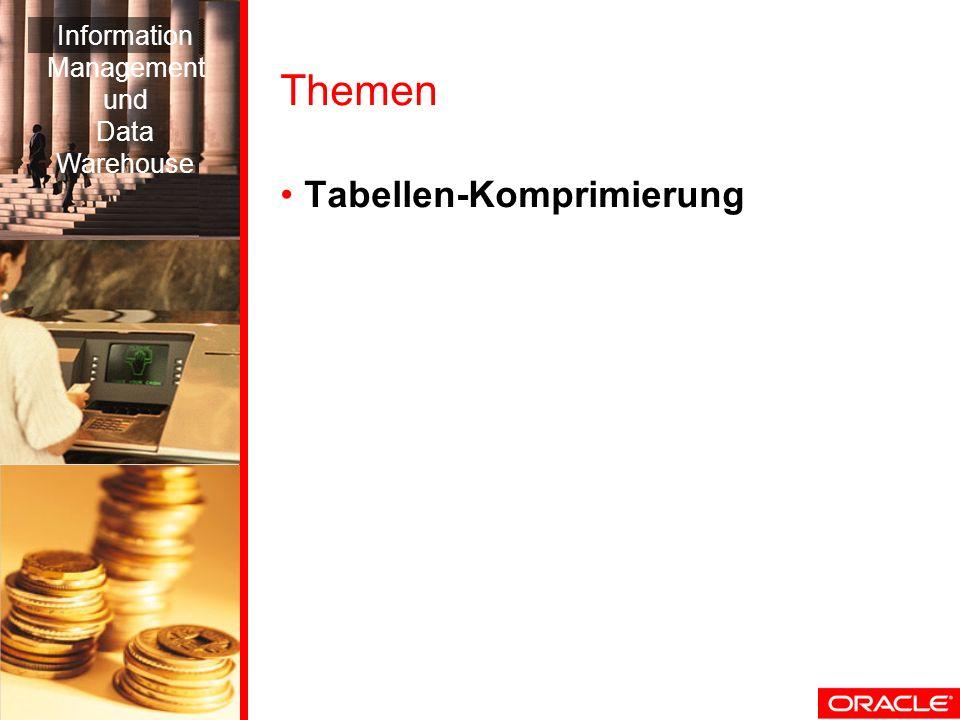 Themen Tabellen-Komprimierung Information Management und Data