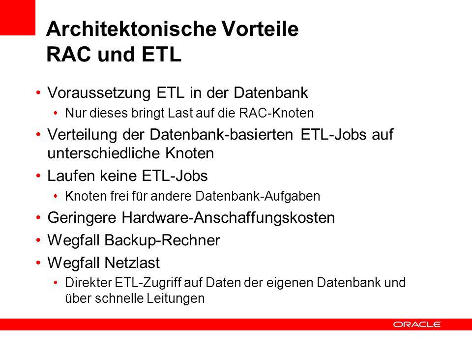 Architektonische Vorteile RAC und ETL