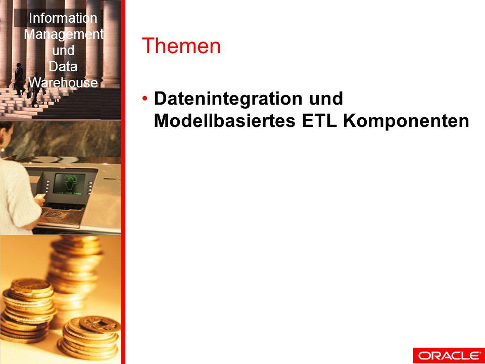 Themen Datenintegration und Modellbasiertes ETL Komponenten