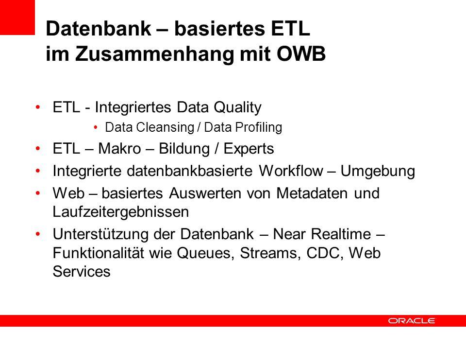 Datenbank – basiertes ETL im Zusammenhang mit OWB