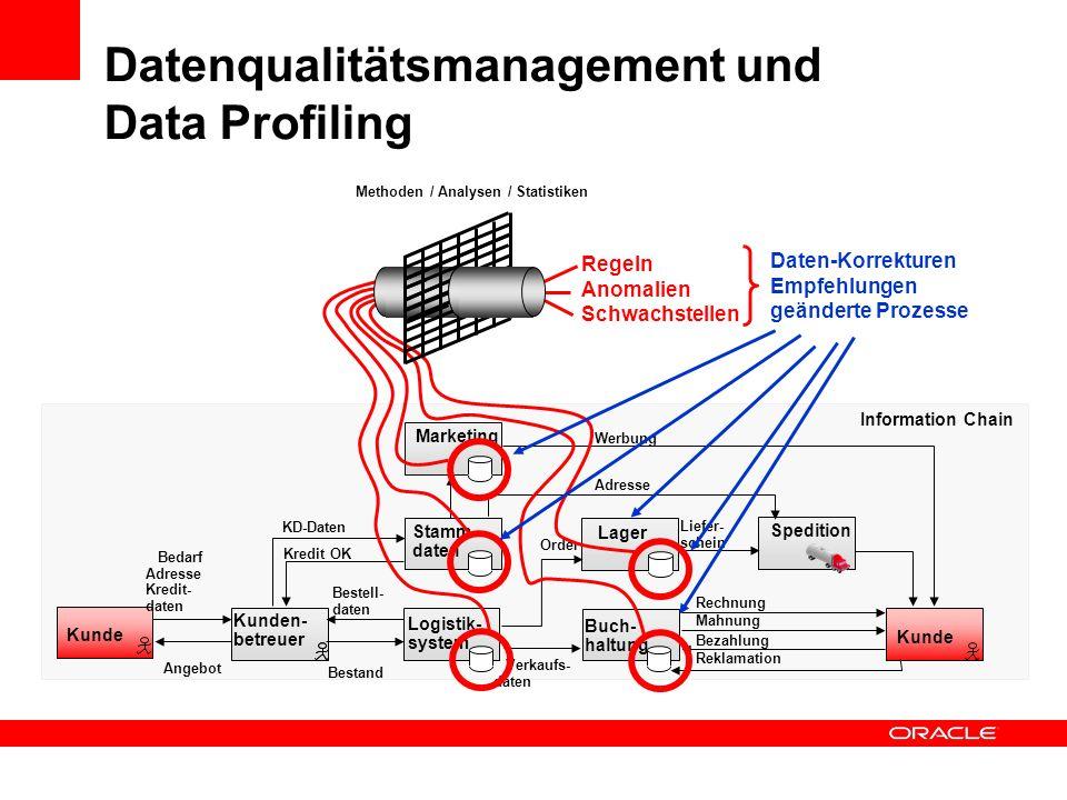 Datenqualitätsmanagement und Data Profiling