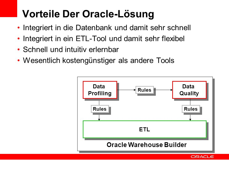 Vorteile Der Oracle-Lösung