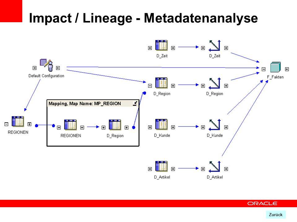 Impact / Lineage - Metadatenanalyse