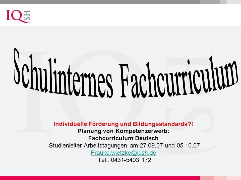 Schulinternes Fachcurriculum