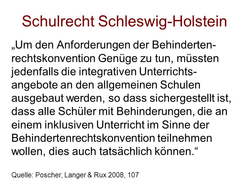 Schulrecht Schleswig-Holstein