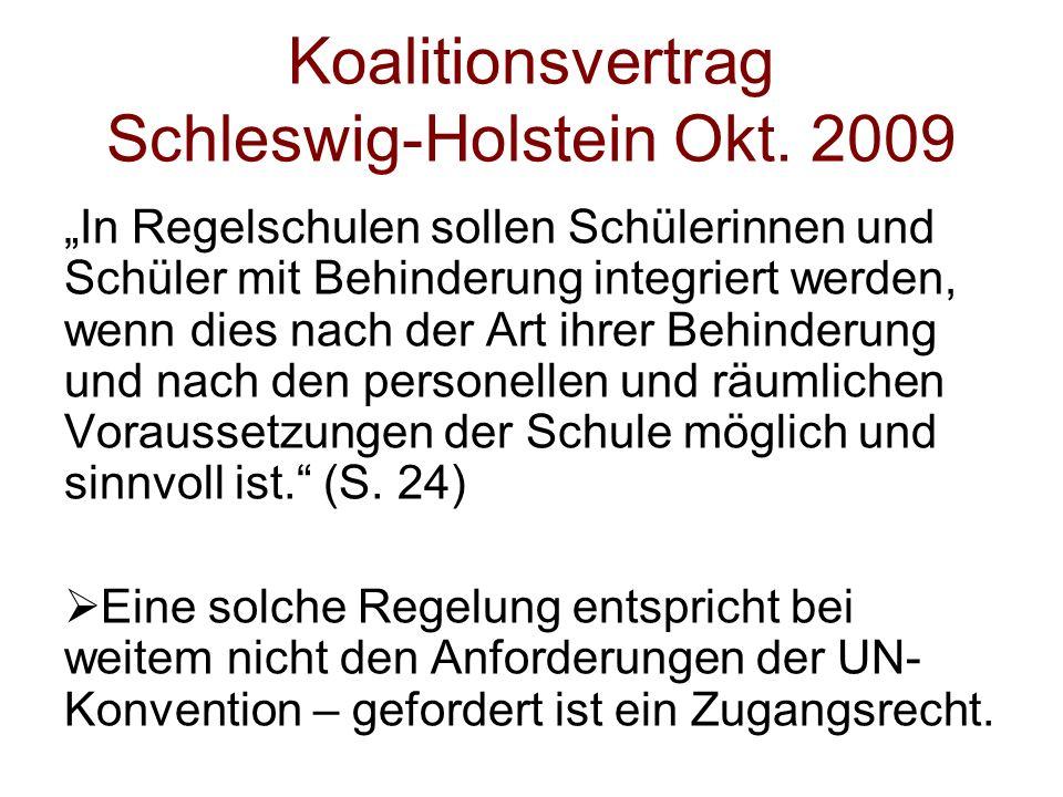 Koalitionsvertrag Schleswig-Holstein Okt. 2009