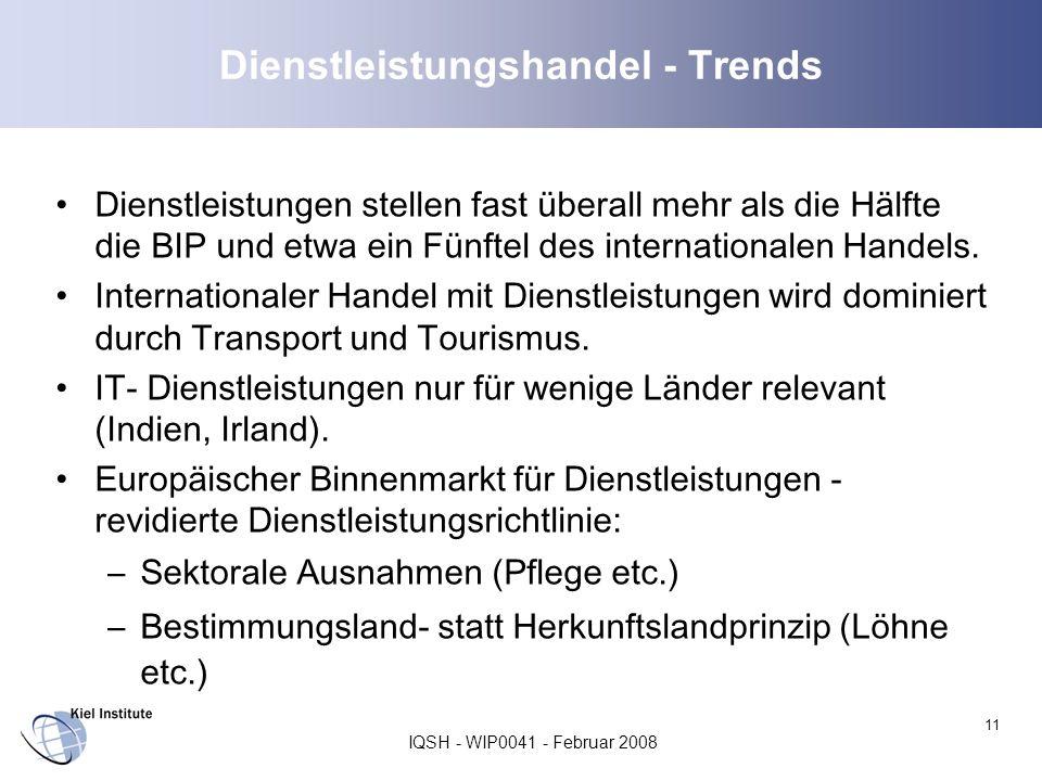 Dienstleistungshandel - Trends