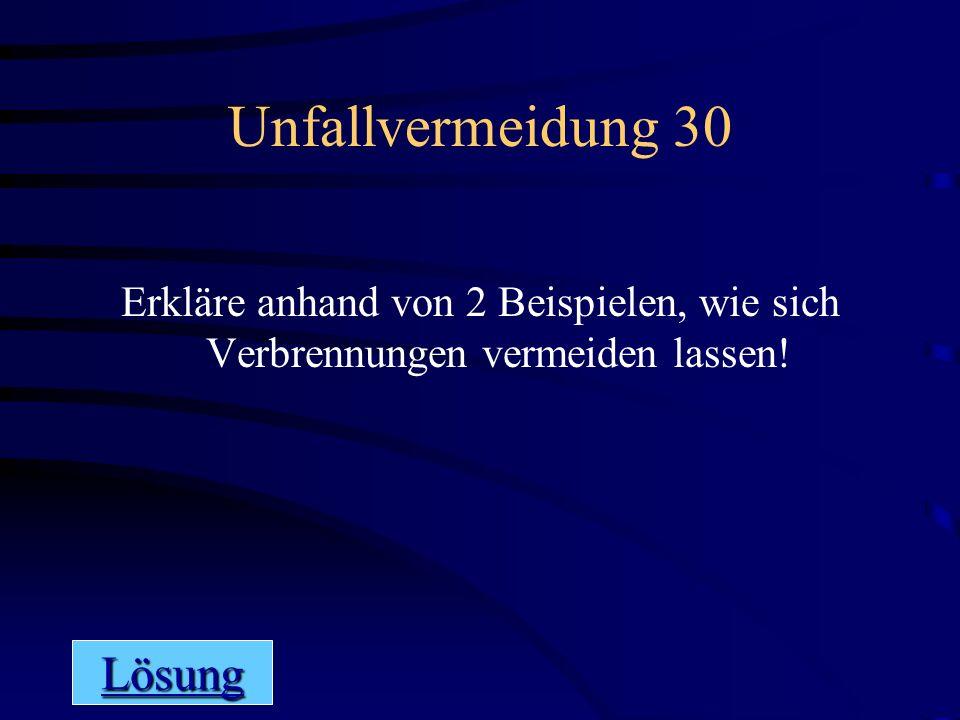 Unfallvermeidung 30 Lösung